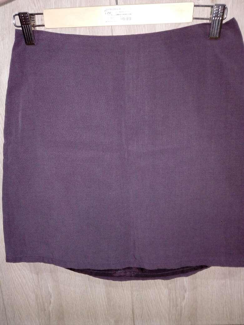 Imagen falda tubo morada