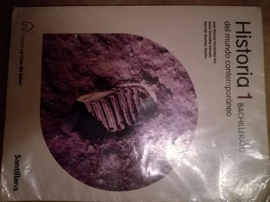 Imagen libro de historia 1° bachillerato ed santillana