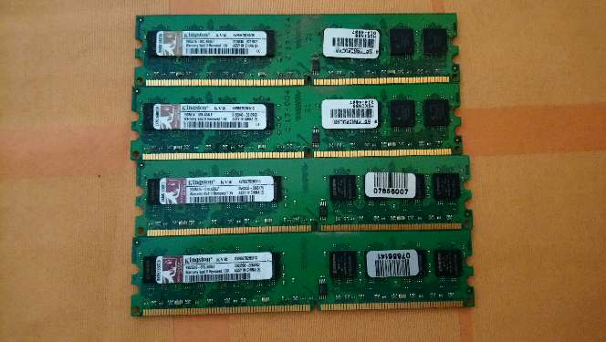 Imagen Memoria Ram Dimm Kingston 4x1GB