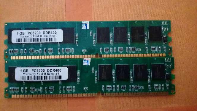 Imagen Memoria ram Dimm PC3200 DDR 400 2x1GB