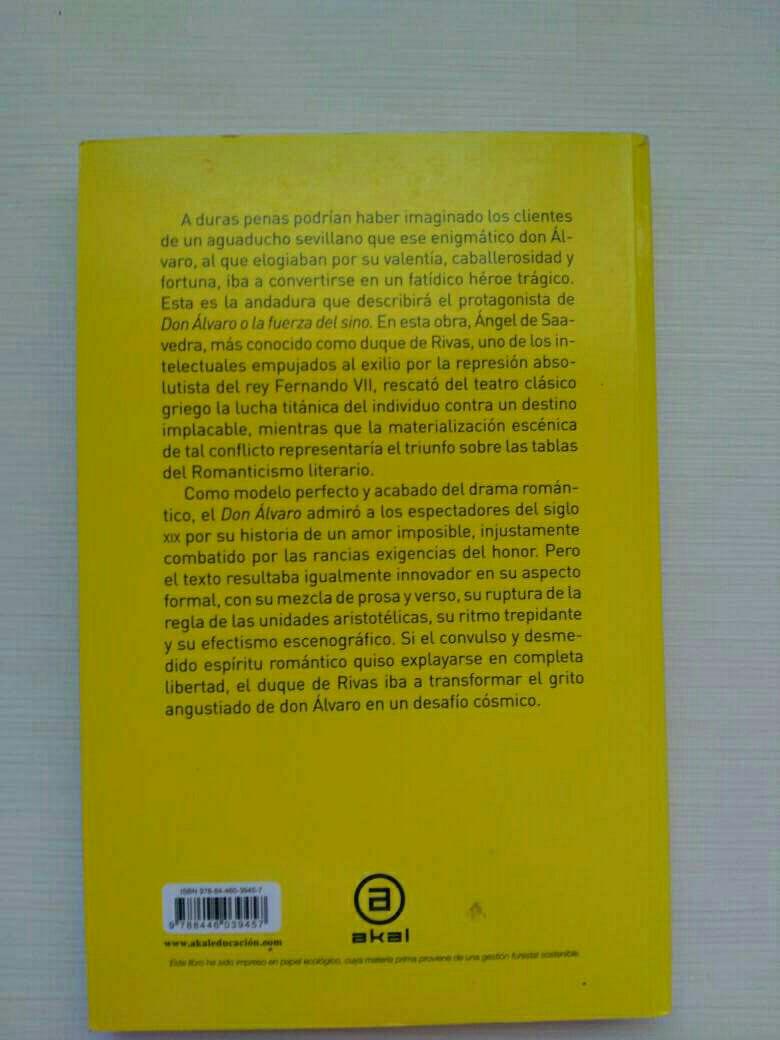 Imagen producto Don Álvaro o la fuerza del sino 2