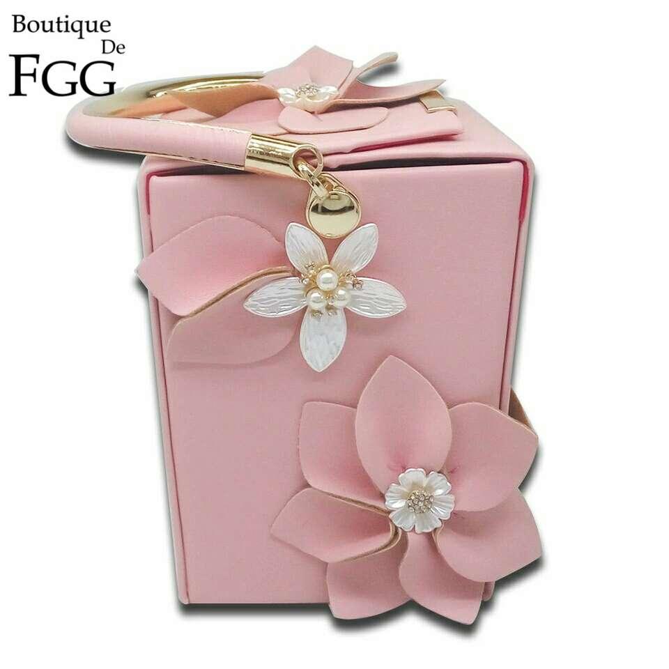 Imagen Women Pink Flower Handbag