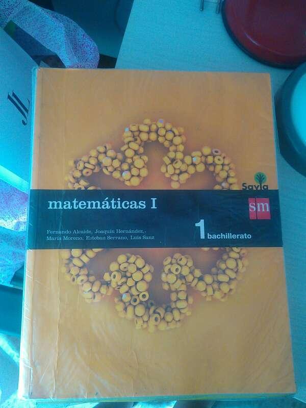 Imagen libro de matematicas 1 bachillerato