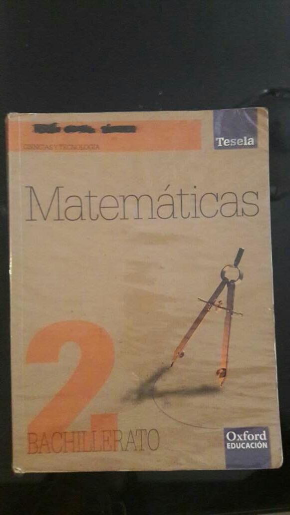 Imagen Libro matemáticas 2 bachillerato OXFORD Tesela