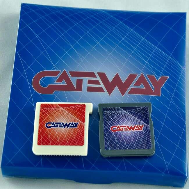 Imagen gateway cartucho rojo y azul para 3ds