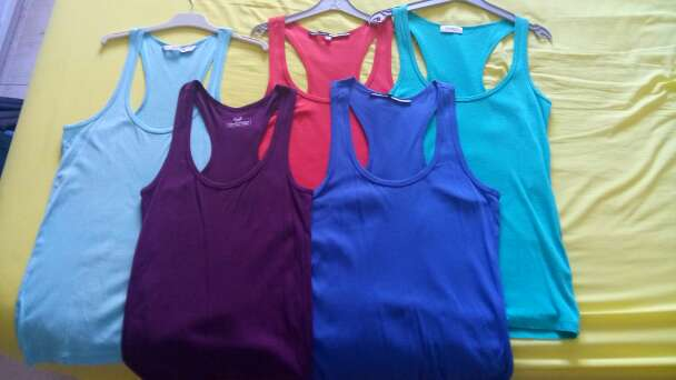 Imagen producto Lote camisetas tirantes talla M 1
