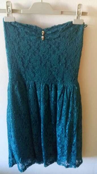 Imagen Vestido corto encaje azul talla M