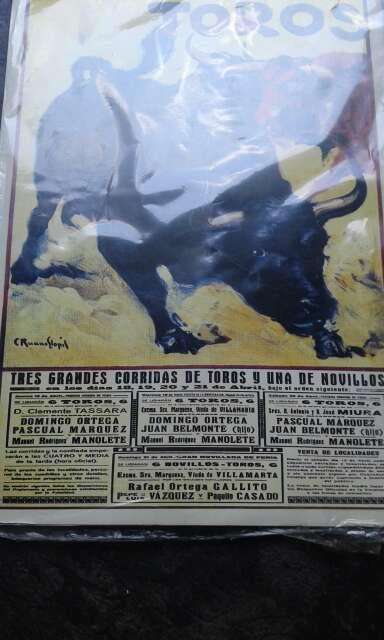 Imagen cartel de toros antiguo