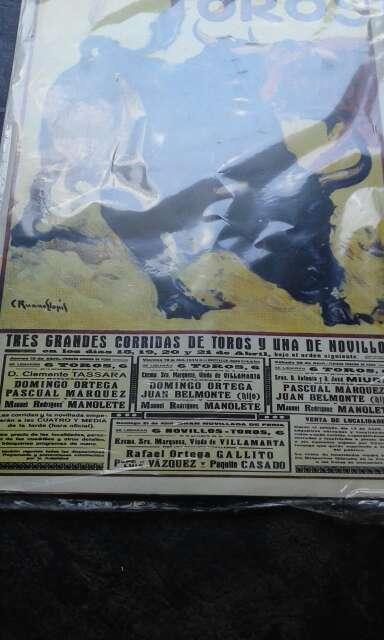 Imagen producto Cartel de toros antiguo  2