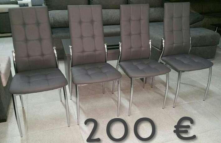 4 sillas gris a estrenar en calle de felipe valls for Muebles de segunda mano valencia particulares