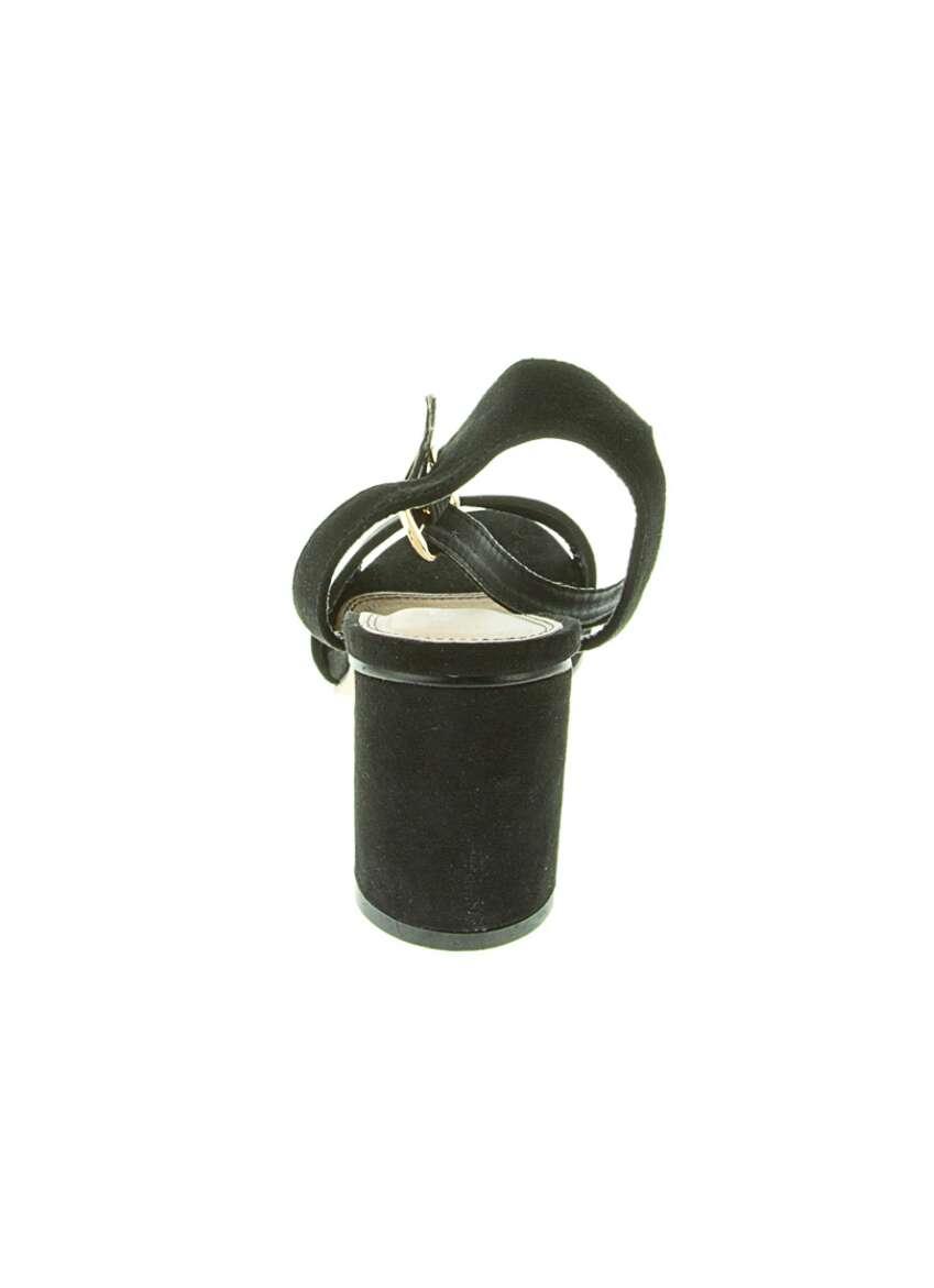 Imagen producto Sandalias negras de tacón redondo. 4