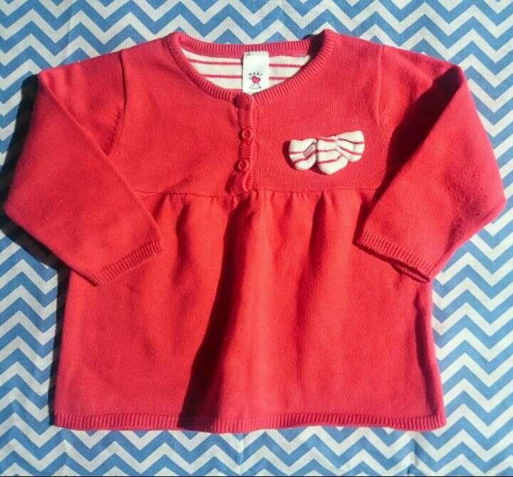 Imagen Vestido rojo manga larga