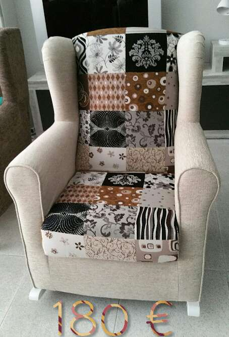 Imagen sillón lactancia patchwork a estrenar