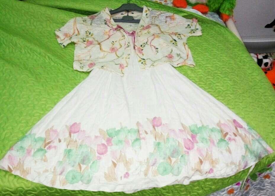 Imagen producto Vestido de niña lino 3