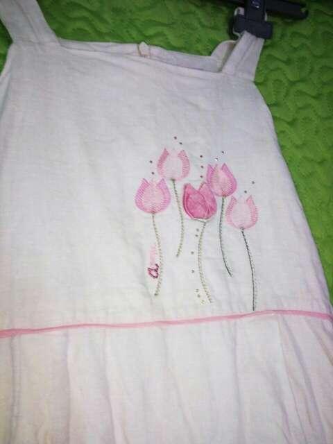 Imagen producto Vestido de niña lino 2