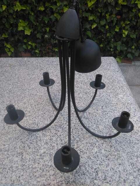 Imagen Lámpara techo tipo forja negra