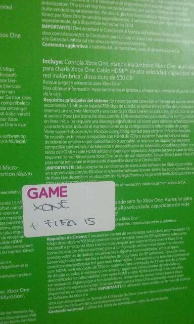 Imagen producto XboxOne+Fifa15 + Añadidos 2