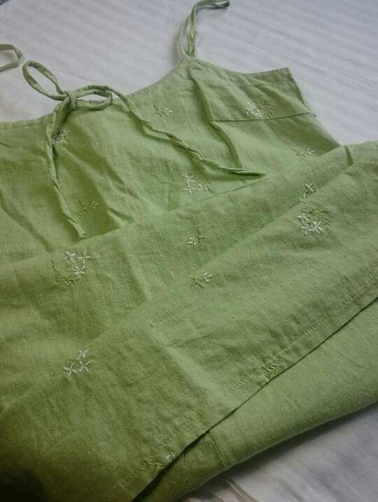 Imagen producto Vestido lino verde  4