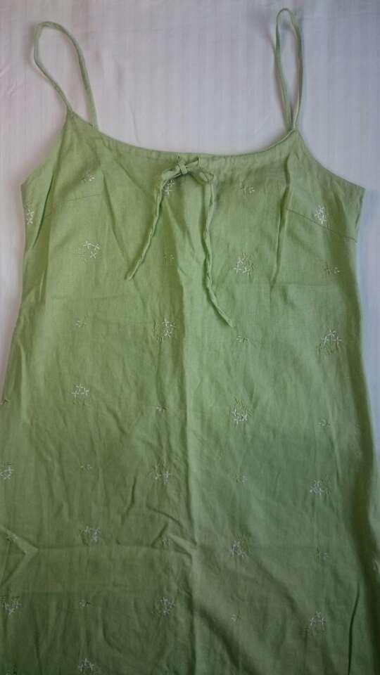 Imagen producto Vestido lino verde  2