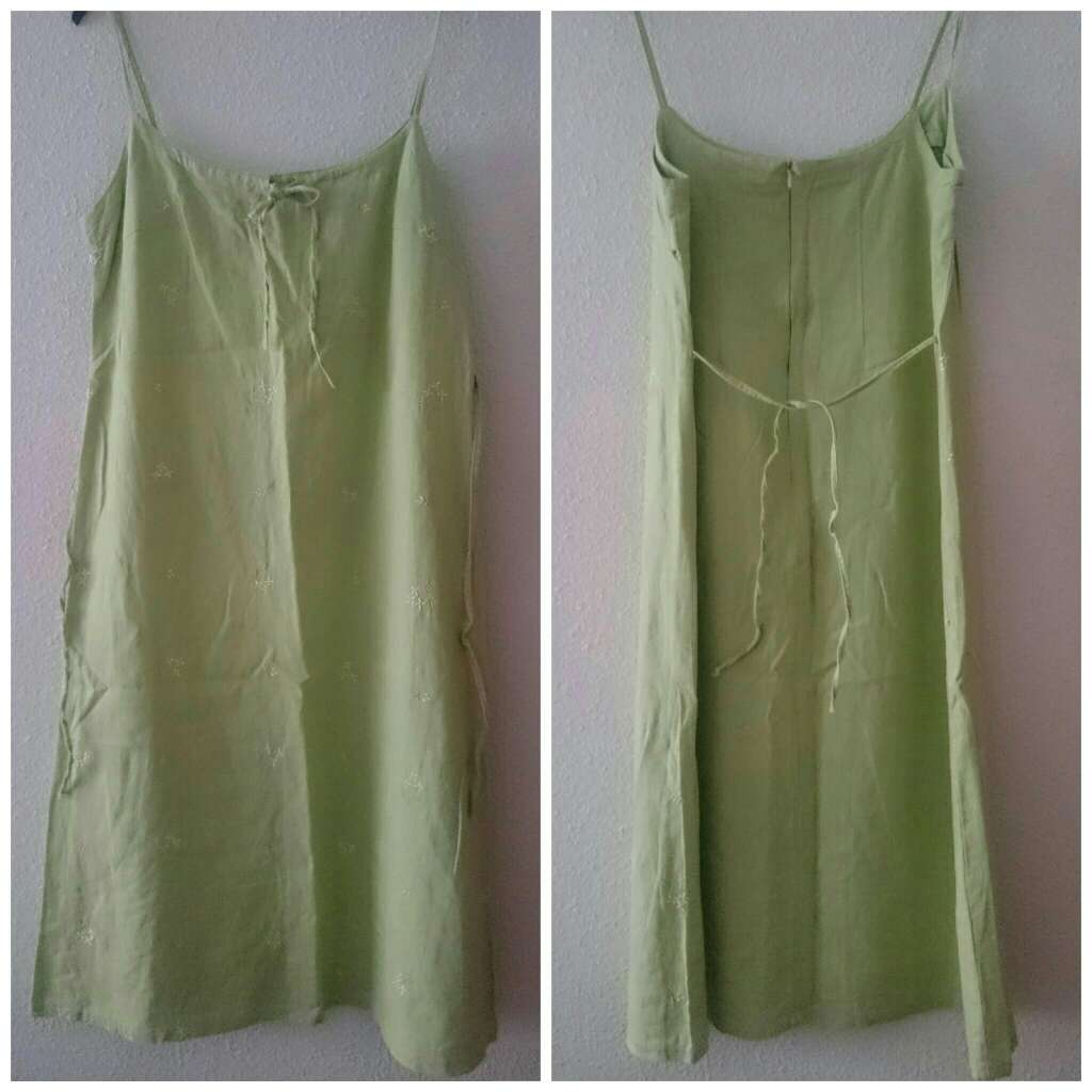Imagen Vestido lino verde