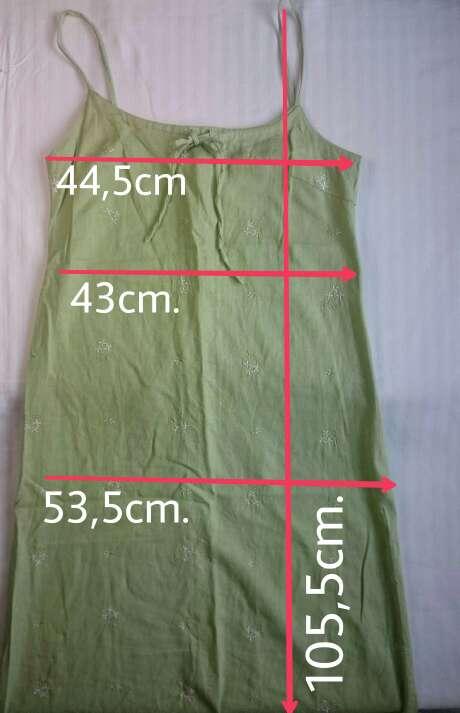 Imagen producto Vestido lino verde  3