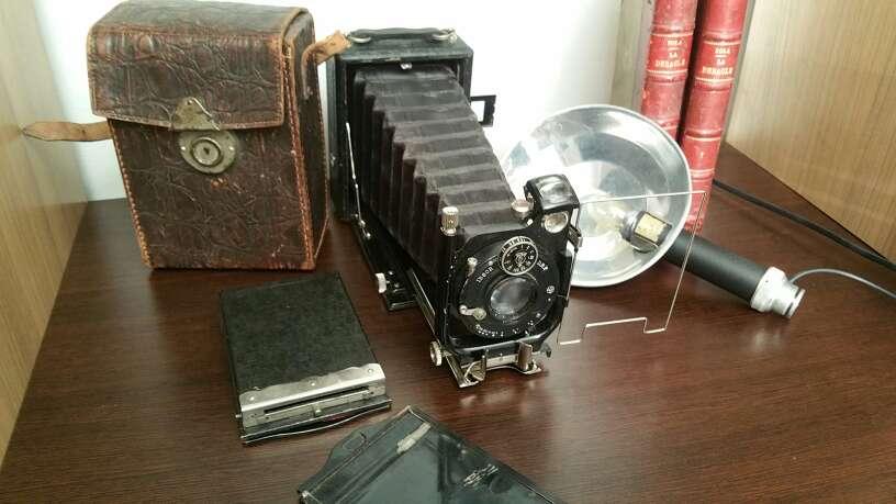 Imagen producto Antigua cámara fotos con flash vintage 4
