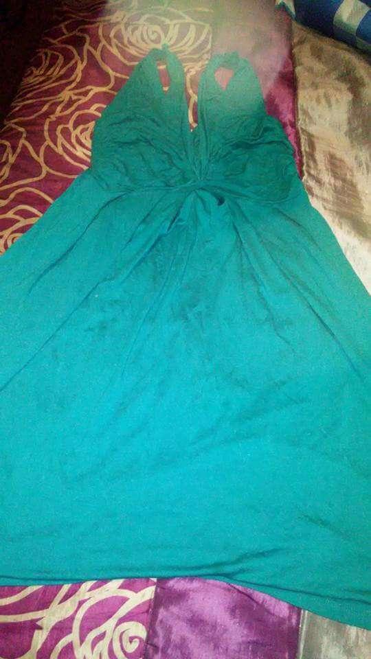 Imagen producto Vestido largo azul S 1