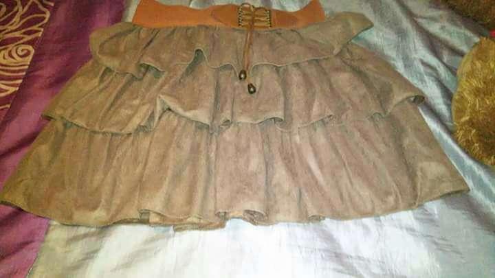 Imagen falda marrón S