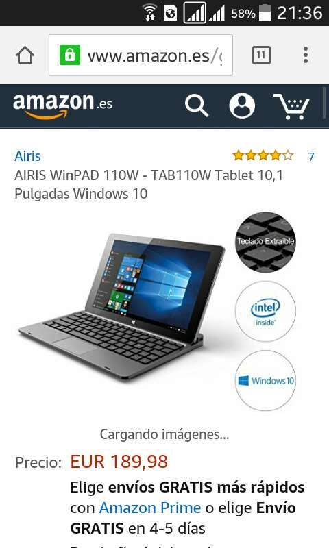 Imagen producto Tablet pc airis 2 en 1 4