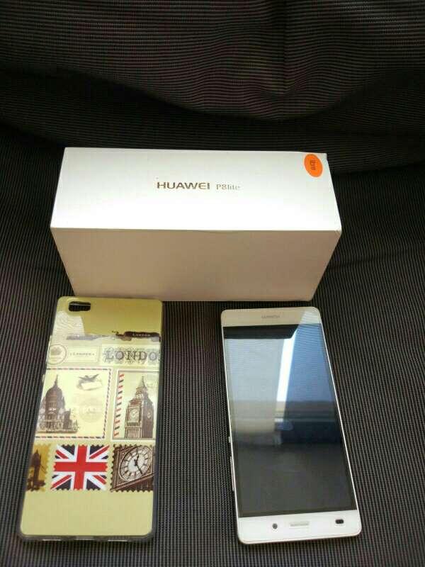 Imagen Huawei p8 lite blanco con funda incluida