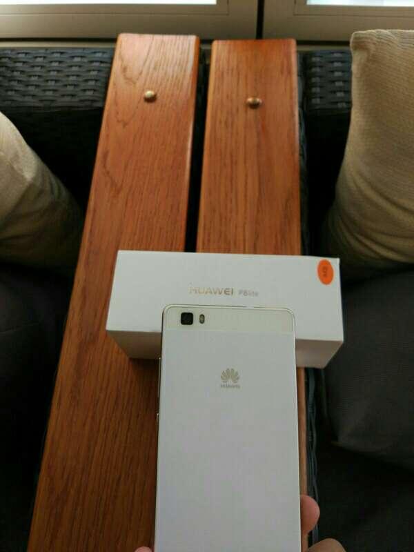 Imagen producto Huawei p8 lite blanco con funda incluida 3