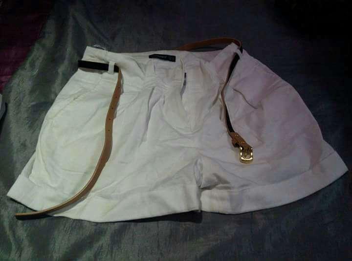 Imagen producto Pantalón mujer corto blanco 40/2.50€ 1