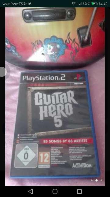 Imagen producto Se vende juego de guitar hero+ guitarra  2