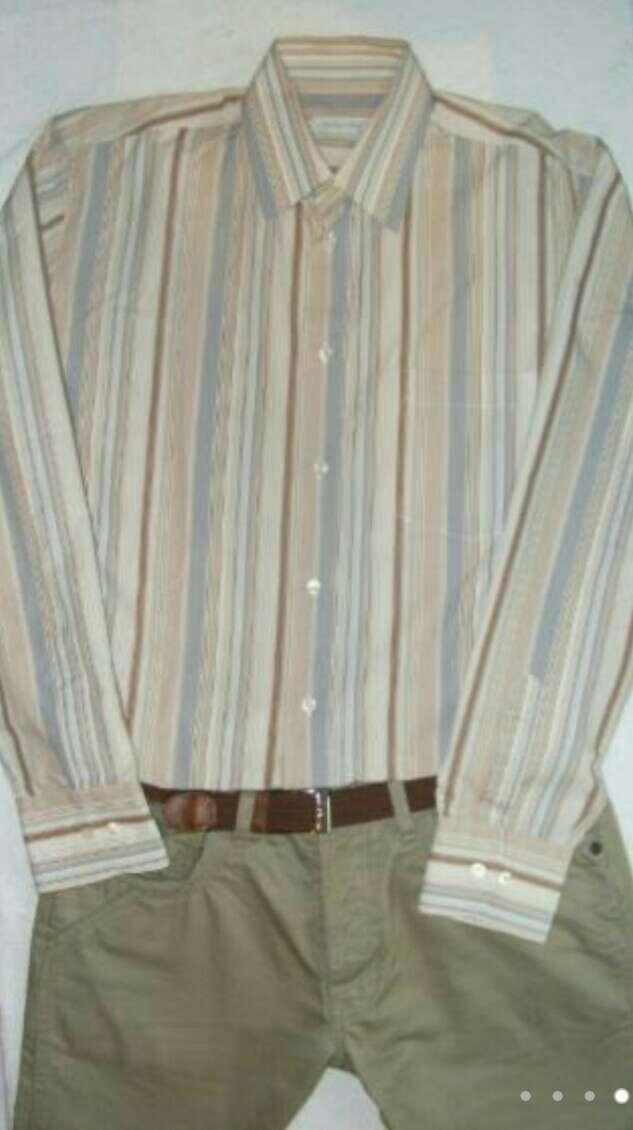 Imagen producto CORTE INGLÉS Camisa hombre marrón  4