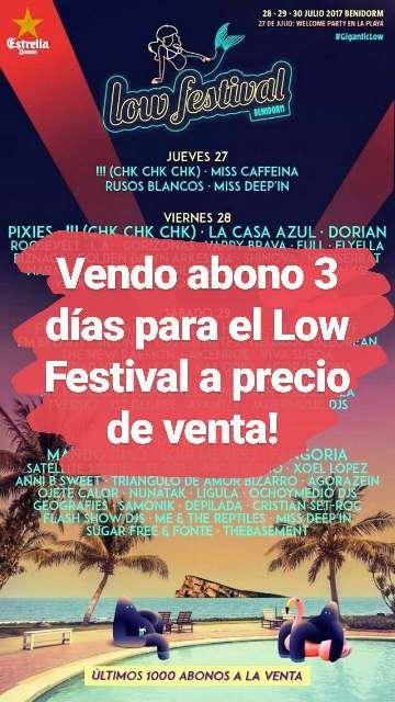 Imagen Abono Low Festival