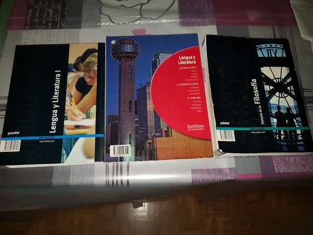 Imagen libros de 1 y 2 bachillerato