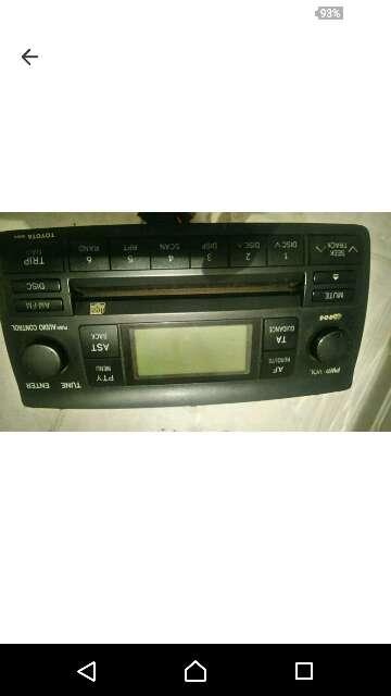 Imagen radio cedees del Toyota corolla