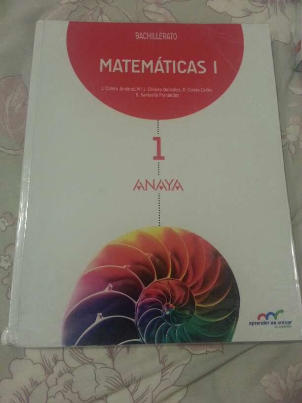 Imagen Matemáticas ciencias 1° Bachillerato