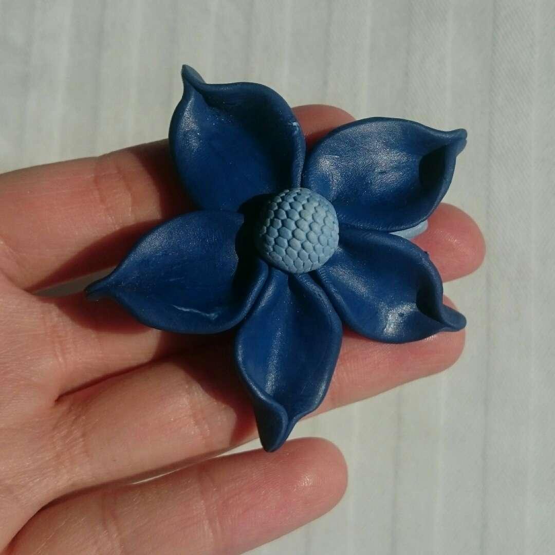 Imagen producto Nuevo Broche artesanal flor  3