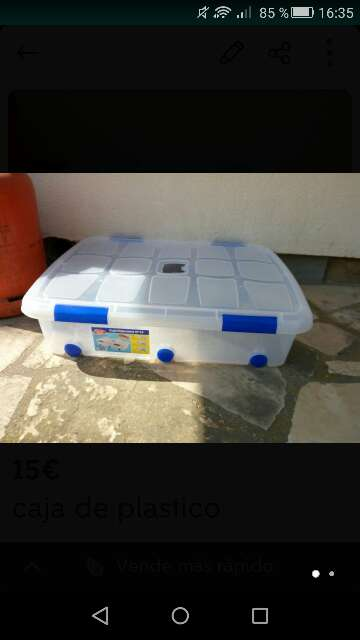 Imagen caja de plastico