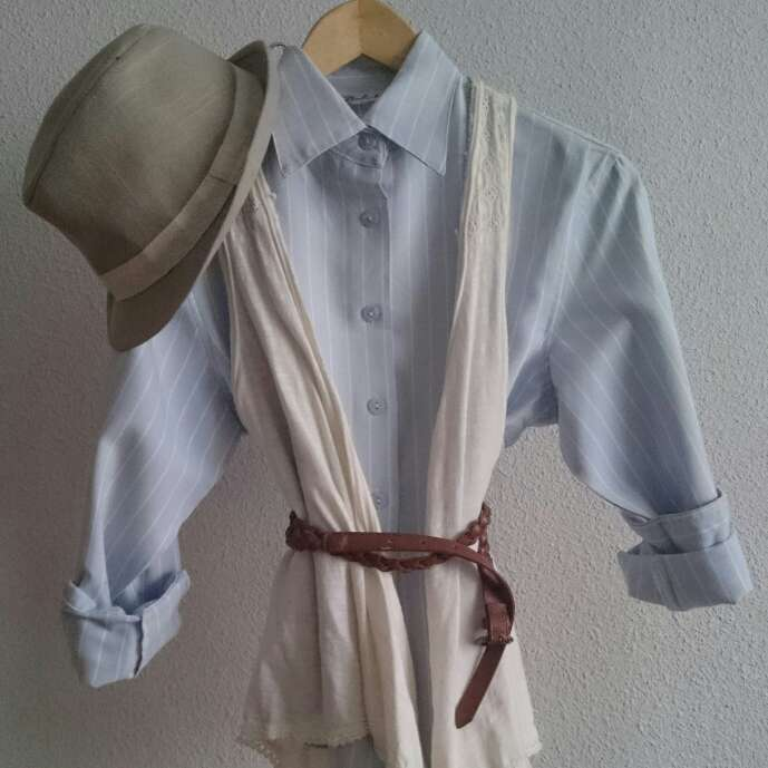 Imagen Camisa celeste rayas blancas