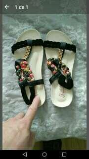 Imagen sandalia negra talla 39-40