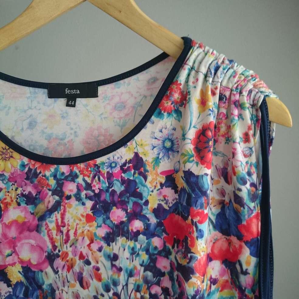 Imagen producto Camiseta flores FESTA  3