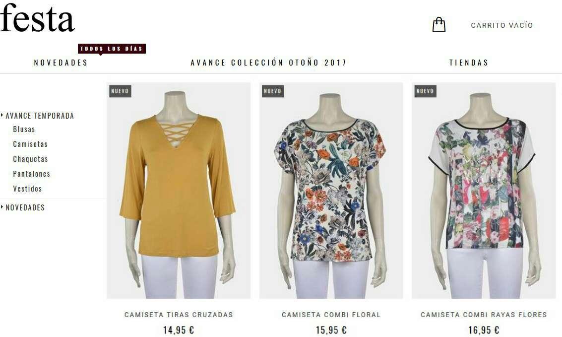 Imagen producto Camiseta flores FESTA  2