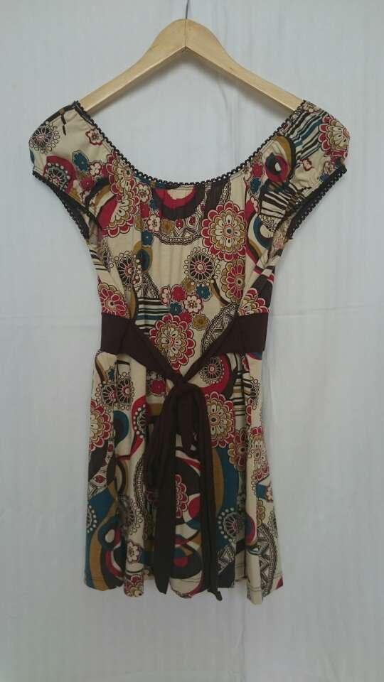 Imagen producto Camiseta flores bohemia  2