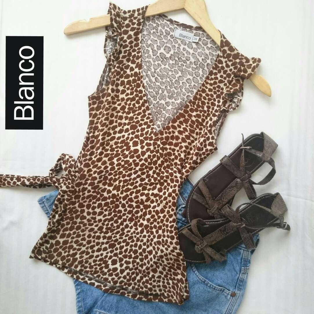 Imagen Camiseta Kimono leopardo