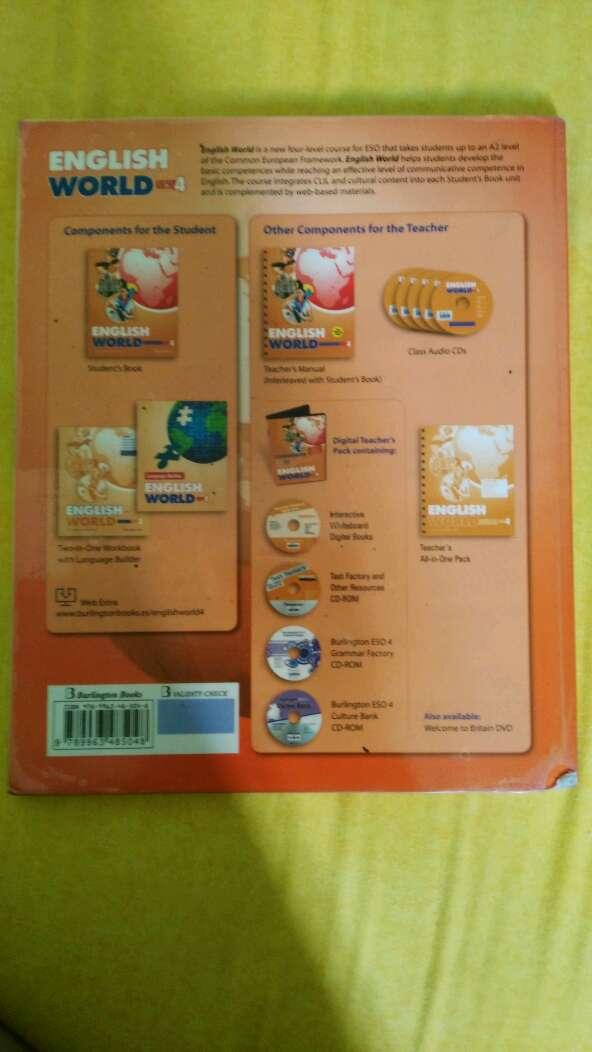Imagen producto Libro de inglés : English world 4eso  3
