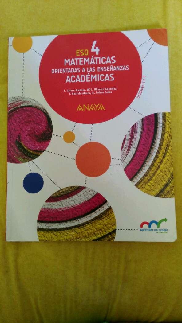 Imagen producto Libro de matemáticas académicas 4 eso dividido en tres tomos  2