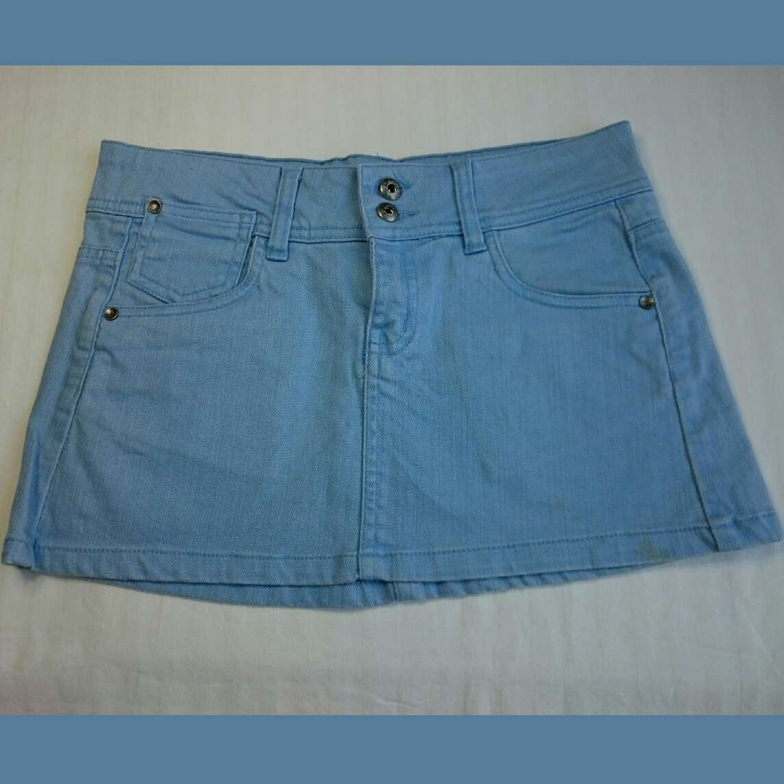 Imagen Minifalda azul pastel