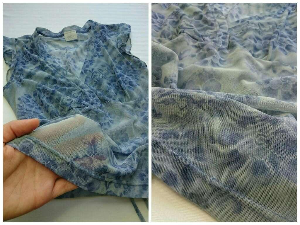 Imagen producto Blusa azul semitransparente  2